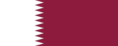 Flag of Qatar official colors and proportions, vector image Illustration