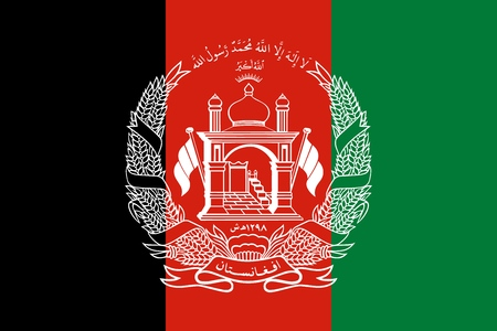 Flag of Islamic Republic of Afghanistan official colors and proportions, vector image Illustration
