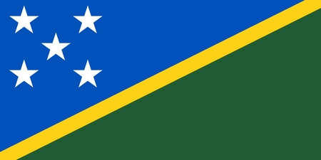 Flag of Solomon Islands official colors and proportions, vector image. Illustration