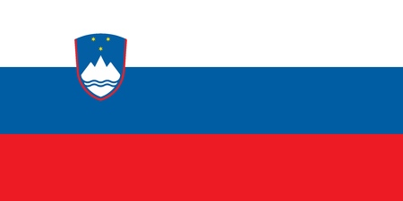 Flag of Slovenia official colors and proportions, vector image