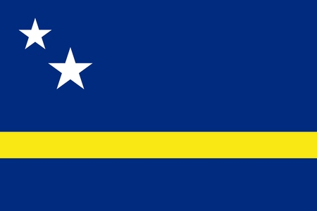 Flag of Curacao official colors and proportions, vector image Illustration