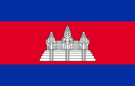 Flag of Cambodia official colors and proportions, vector image