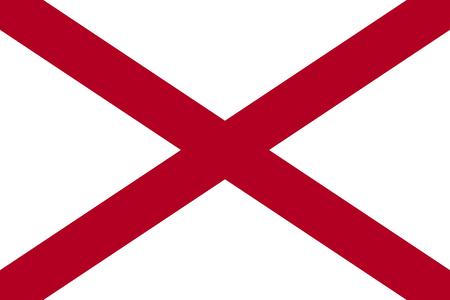 Flag of the USA State of Alabama, vector