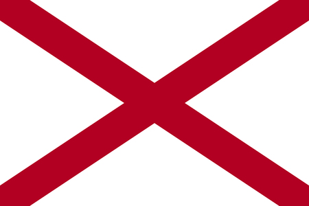 Flag of the USA State of Alabama, vector