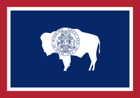 Flag of the USA State of Wyoming, vector Illustration