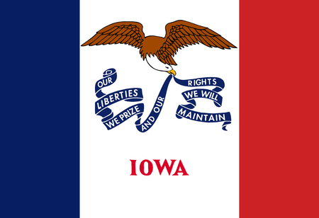 Flag of the USA State of Iowa, vector