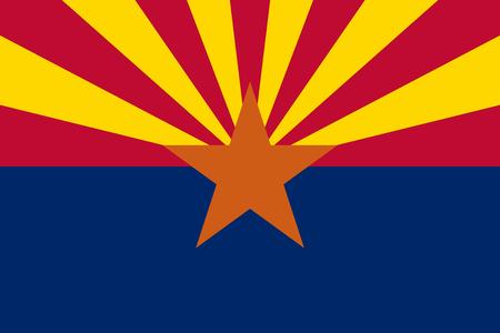 Flag of the USA State of Arizona, vector