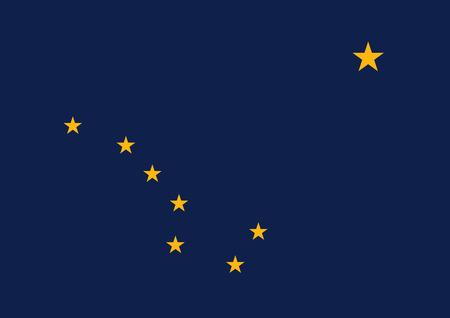 Flag of the USA State of Alaska, vector Illustration