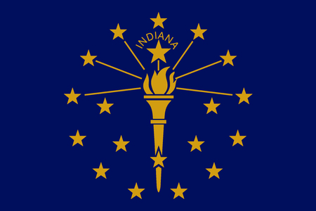 Flag of the USA State of Indiana, vector.