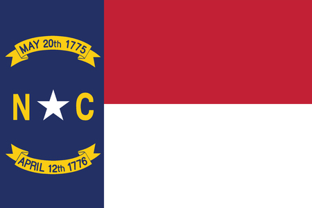 Flag of the USA State of North Carolina, vector.