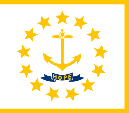Flag of the USA State of Rhode Island, vector.