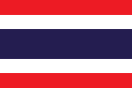 Flag of Thailand in official proportions and colors, vector.