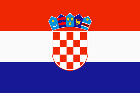 Flag of Croatia in official rate and colors, vector.