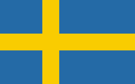 Flag of Sweden in official rate and colors, vector. Illustration