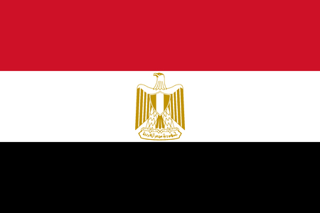 Flag of Egypt in official rate and colors, vector.