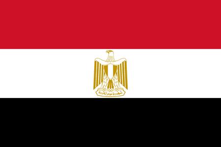 Vlag van Egypte in officiële koers en kleuren, vector. Vector Illustratie