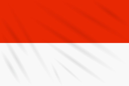 Flag Indonesia swaying in wind, realistic vector. Illustration