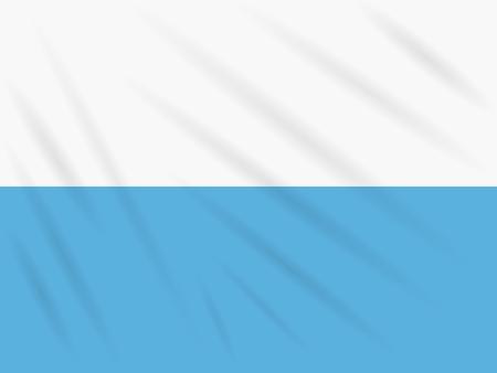 Flag San Marino swaying in wind, realistic vector.