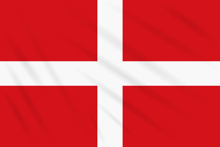 Flag of Sovereign Military Order of Malta swaying in wind, realistic vector