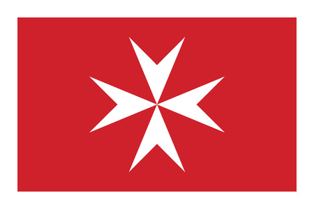 Civil flag of Malta in official rate and colors vector.