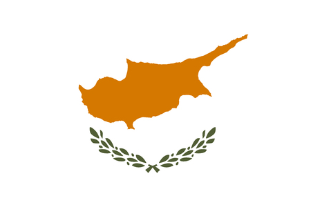 Flag of Republic of Cyprus in official rate and colors vector.