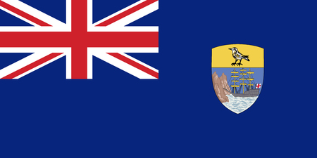 Flag of Saint Helena, Ascension and Tristan da Cunha in official rate and colors, vector.