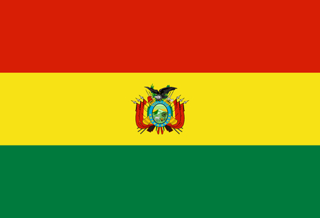 Flag of Bolivia in official rate and colors, vector. Imagens - 116843568