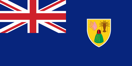 Flag of Turks and Caicos in official rate and colors, vector. Vectores