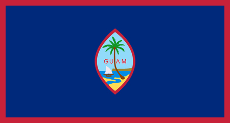Flag Guam in official rate and colors, vector image