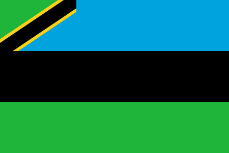 Flag Zanzibar in official rate and colors, vector image