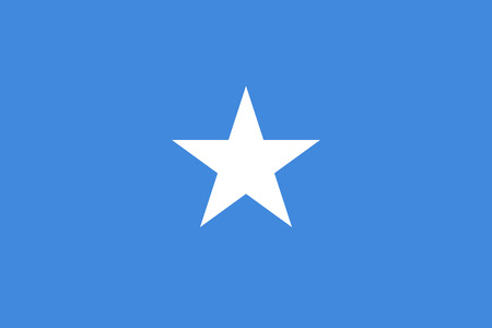 Flag Somalia in official rate and colors, vector image 向量圖像