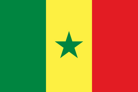 Flag Senegal in official rate and colors, vector image