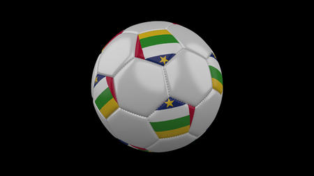Soccer ball with flag Central African Republic, 3d rendering football 版權商用圖片