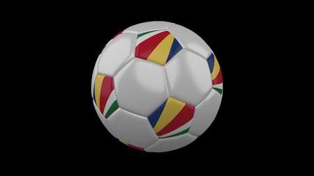 Soccer ball with flag Seychelles, 3d rendering football