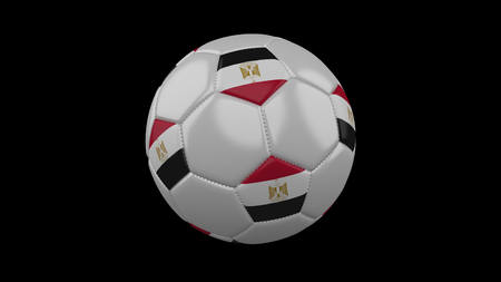 Soccer ball with flag Egypt, 3d rendering football