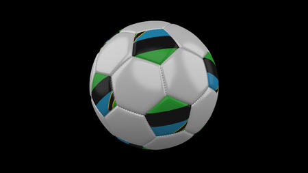 Soccer ball with flag Zanzibar, 3d rendering football 版權商用圖片