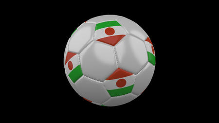 Soccer ball with flag Niger, 3d rendering football