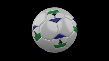 Soccer ball with flag Lesotho, 3d rendering football