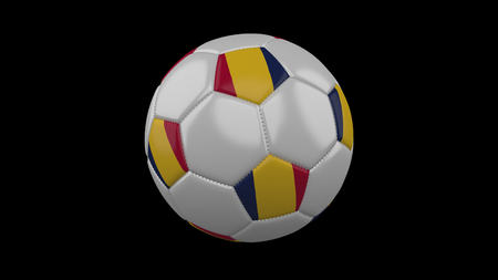 Soccer ball with flag Chad, 3d rendering football
