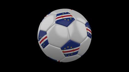 Soccer ball with flag Cape Verde, 3d rendering football 版權商用圖片