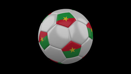 Soccer ball with flag Burkina Faso, 3d rendering football