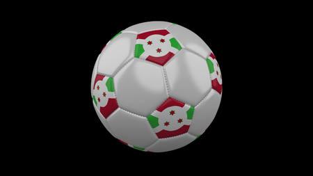 Soccer ball with flag Burundi, 3d rendering football