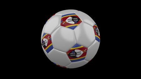 Soccer ball with flag eSwatini - Swaziland, 3d rendering football