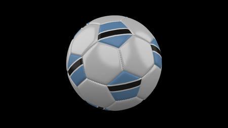 Soccer ball with flag Botswana, 3d rendering football