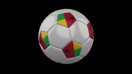 Soccer ball with flag Guinea Bissau, 3d rendering football
