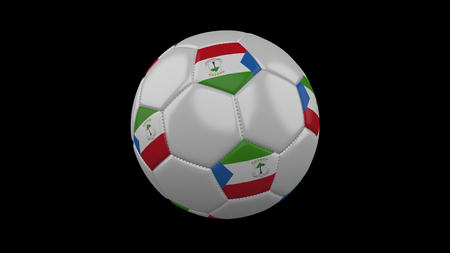 Soccer ball with flag Equatorial Guinea, 3d rendering football