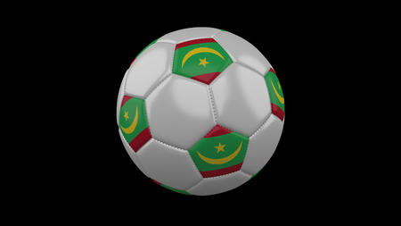Soccer ball with flag Mauritania, 3d rendering football