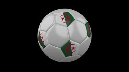 Soccer ball with flag Algeria, 3d rendering football