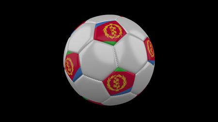 Soccer ball with flag Eritrea, 3d rendering football