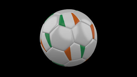 Soccer ball with flag Cote dIvoire - Ivory Coast, 3d rendering football 版權商用圖片